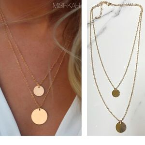 Jewelry - Just In🎉 Gold Color  Sequin Coin Pendant Necklace